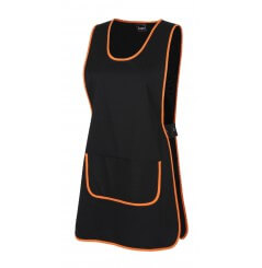 Chasuble blouse de travail pour femme noir orange