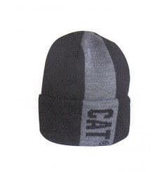 Bonnet bicolore hivers homme gris noir CAT 1128074