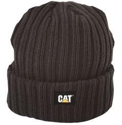 Bonnet tricoté homme noir C-443 avec logo CAT