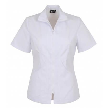 Veste de travail medicale blanche pour femme