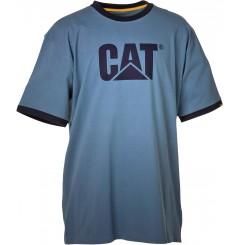 Tee shirt Caterpillar pas cher manches courtes bleu acier
