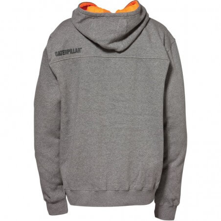 Sweat shirt capuche Caterpillar 1910778 gris orange