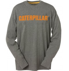 Tee shirt Caterpillar manches longues gris orange