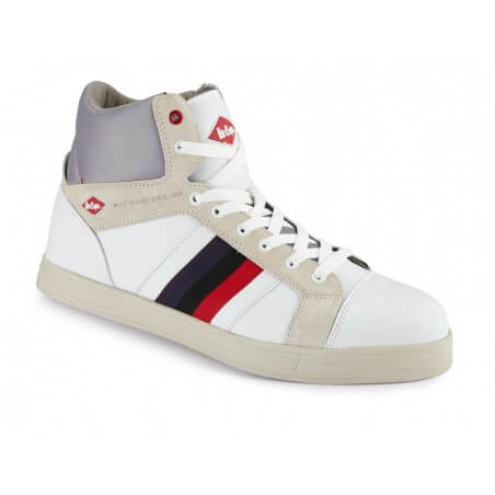 Chaussure de securite type baseball blanche S1P Lee Cooper
