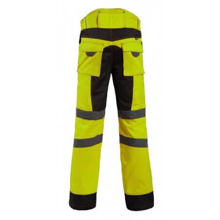 Pantalon de haute visibilite Bellus NW jaune ou orange
