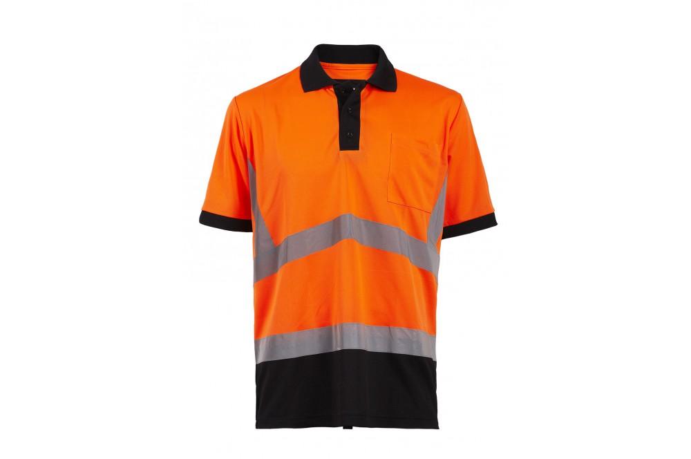 Polo haute visibilité jaune ou orange Apollo North Ways - Cotepro