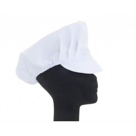 Casquette alimentaire Gavroche tissu sergé blanc