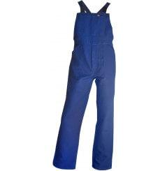 Cottes à bretelles salopette de travail bleu Bastaing LMA