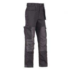 Pantalon de travail coton Howard black North WAYS