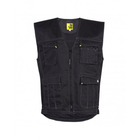 Gilet de travail bodywarmer homme William black North Ways