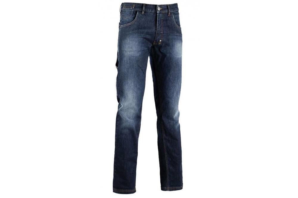 Pantalon de travail jean delavé Stone Diadora Utility - Cotepro 5bb1a8e68e8