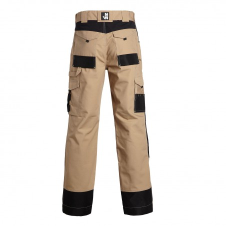 Pantalon de travail robuste Adam beige North Ways