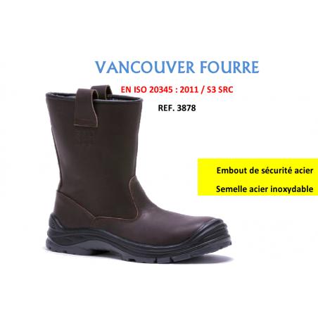 Botte de sécurité Fourrée Vancouver S3 Baudou