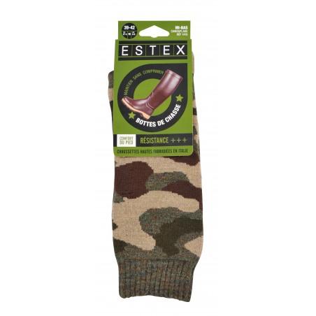 Paire de chaussettes camouflage estex 39/42 ou 43/46