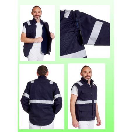 Blouson ambulancier mixte blanc ou marine REMI