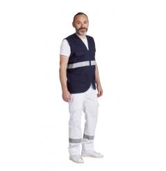 Gilet ambulancier sans manches marine ou blanc Remi