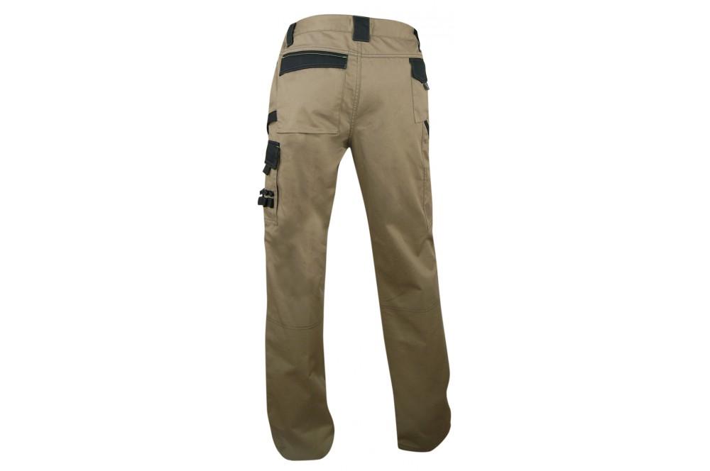 Pantalon de travail poches genoux plomb LMA