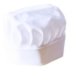 Toque de cuisinier blanche 100 % coton LMA