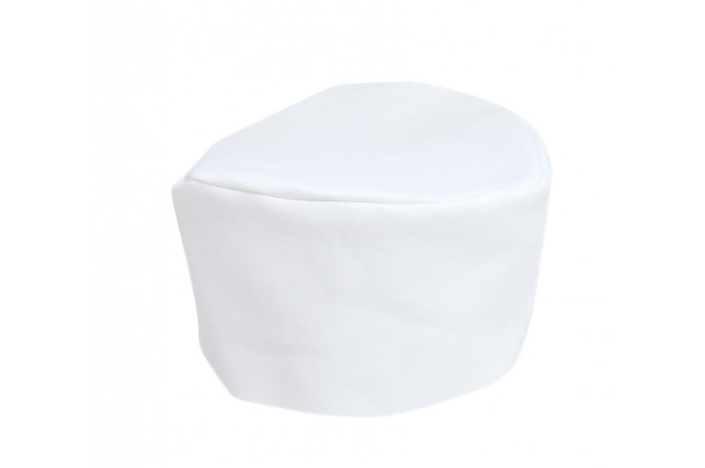 Calot de cuisinier blanc 100% coton LMA
