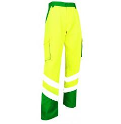 Pantalon de haute visibilité Balise EN ISO 20471 vert jaune