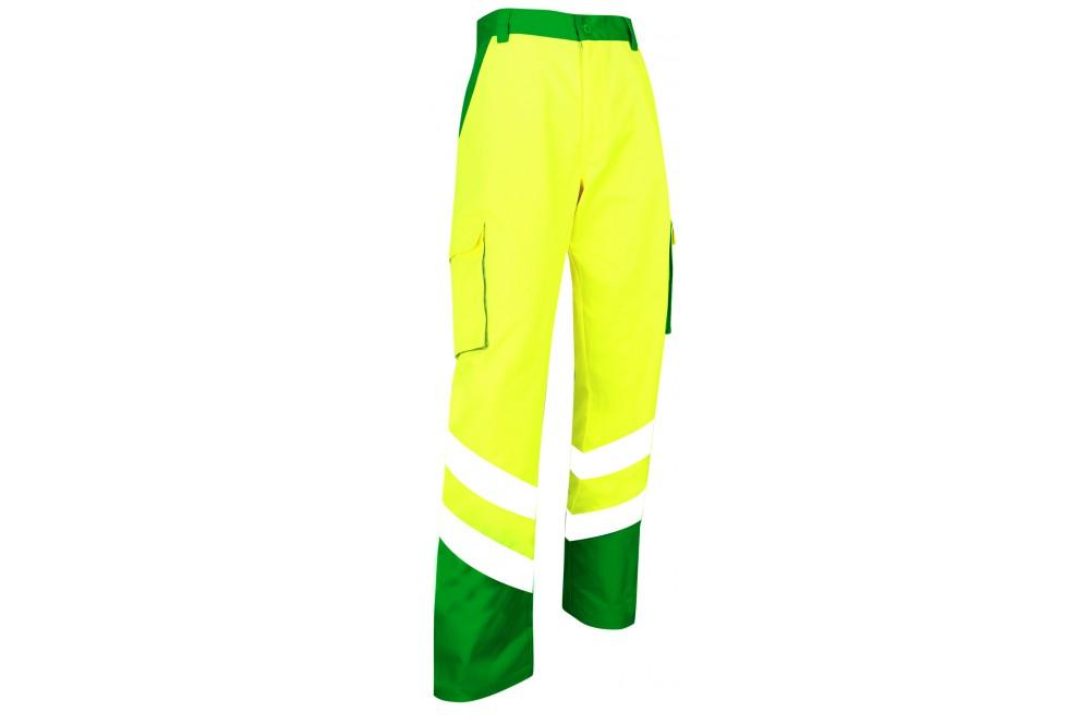 f6836808e11 Pantalon de haute visibilité Balise EN ISO 20471 vert jaune - Cotepro