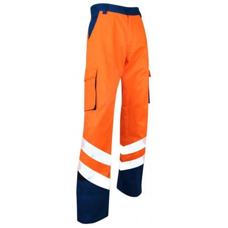 Pantalon de haute visibilité Balise EN ISO 20471 bleu orange