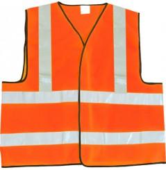 Gilet de signalisation EN471 securite jaune ou orange