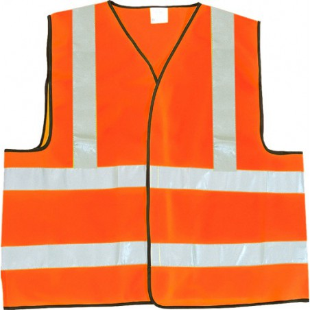 Gilet de signalisation EN471 securite jaune ou orange