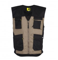 Gilet de travail bodywarmer homme William beige North Ways