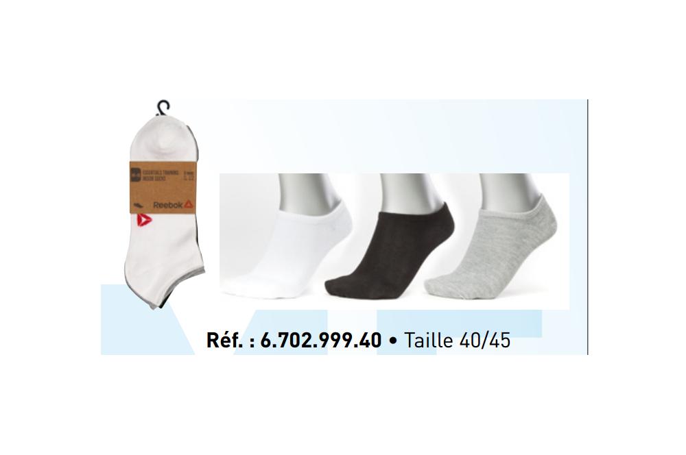 Lot de 3 paires de chaussettes quarter Reebok