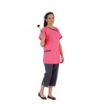 Tunique de travail femme Dalhia couleur manches courtes