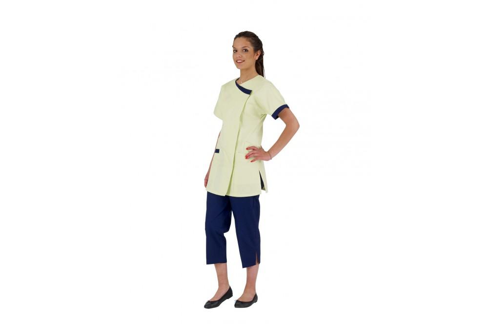 les plus récents arrive vente en ligne Tunique de travail femme Dalhia couleur manches courtes - Cotepro