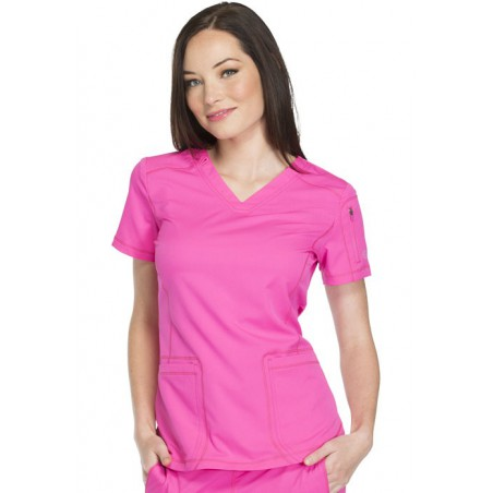 Tunique médicale femme moderne rose Dickies