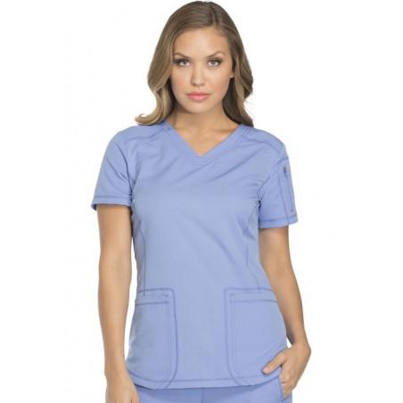 Tunique médicale femme moderne bleu ciel Dickies