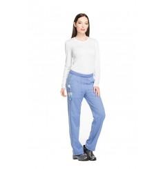 Pantalon médical élastique femme bleu ciel Dickies