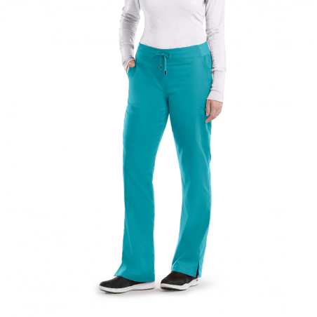Pantalon médical femme bleu...