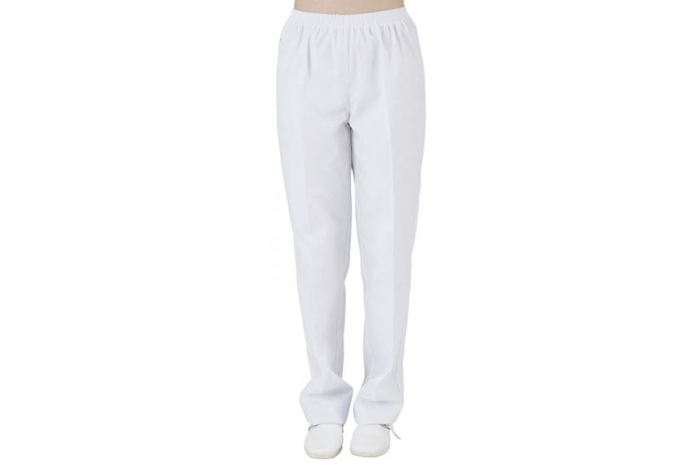 Pantalon de travail mixte blanc sans poches