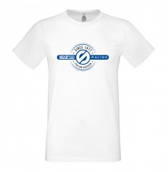 Tee shirt manches courtes Sparco racing blanc