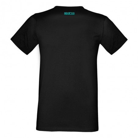 Tee shirt manches courtes Sparco racing noir