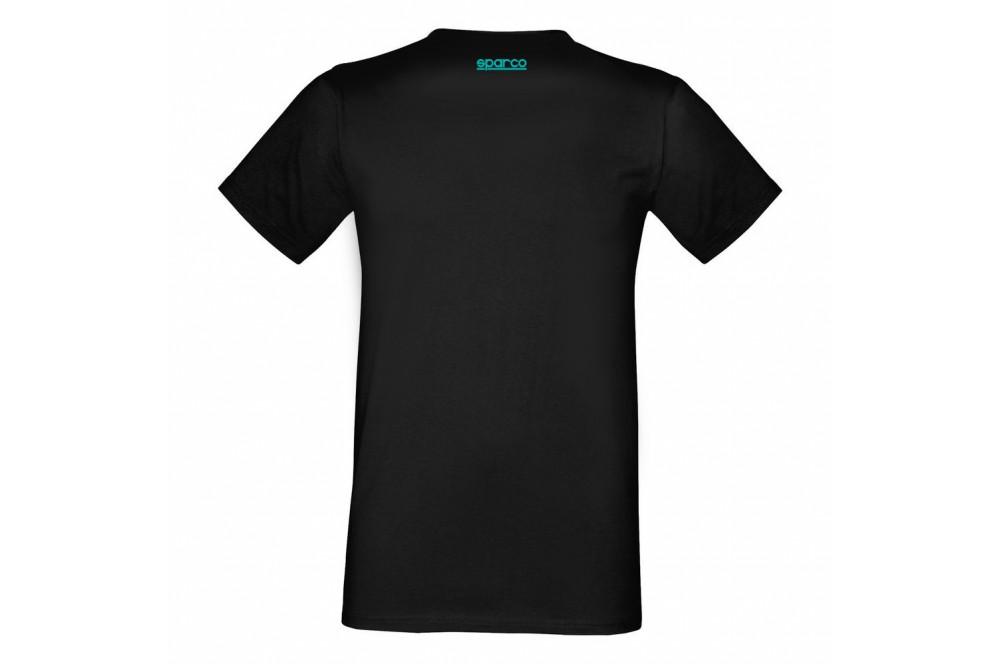 Tee shirt manches courtes Sparco racing noir