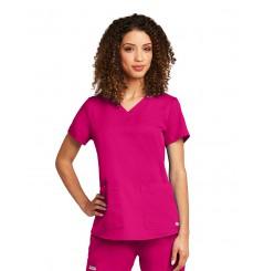 Tunique médicale femme moderne fushia Grey's Anatomy