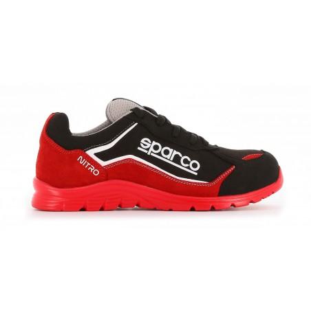 Basket sécurité Sparco légère nitro S3 rouge noir - Côté Pro