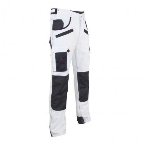 Pantalon de travail blanc avec poches genoux Aerosol LMA
