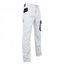 Pantalon de travail homme blanc Facade LMA