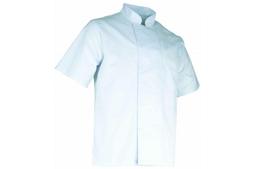 Veste de cuisinier manches courtes polycoton Aubergine LMA