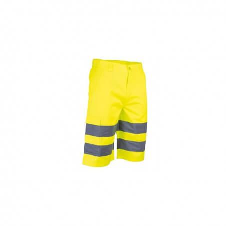 Bermuda de haute visibilité EN ISO 20471 jaune ou orange fluo