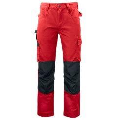 Pantalon de travail poches genouillères 5532 Projob rouge ou beige