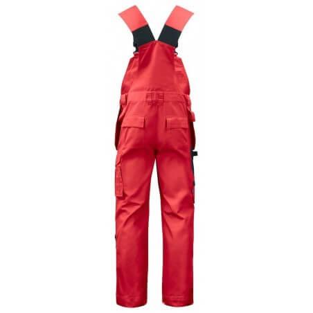 Salopette de travail avec poches genouillères 5630 Projob rouge ou beige