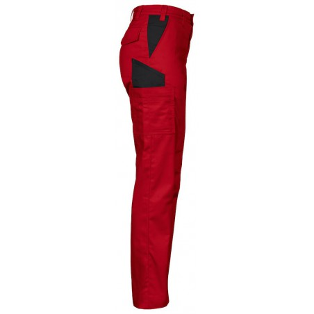 Pantalon de travail leger femme 2519 Projob rouge ou blanc