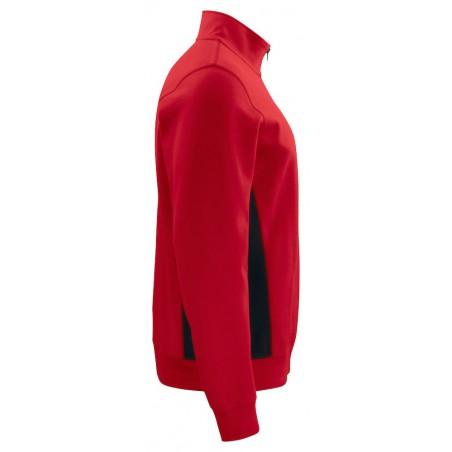 Sweat de travail résistant col zippé 2128 Projob rouge ou ciel